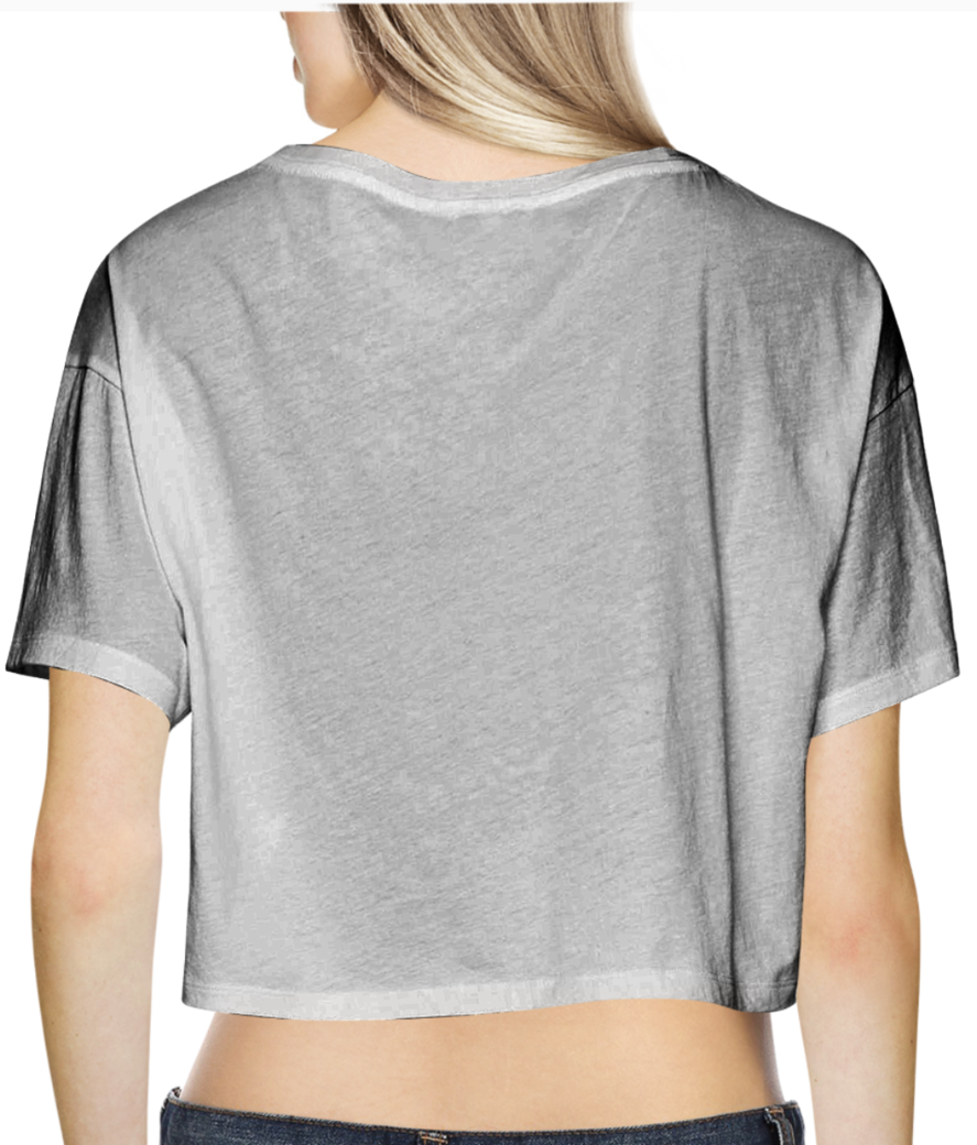 High on chai crop top back