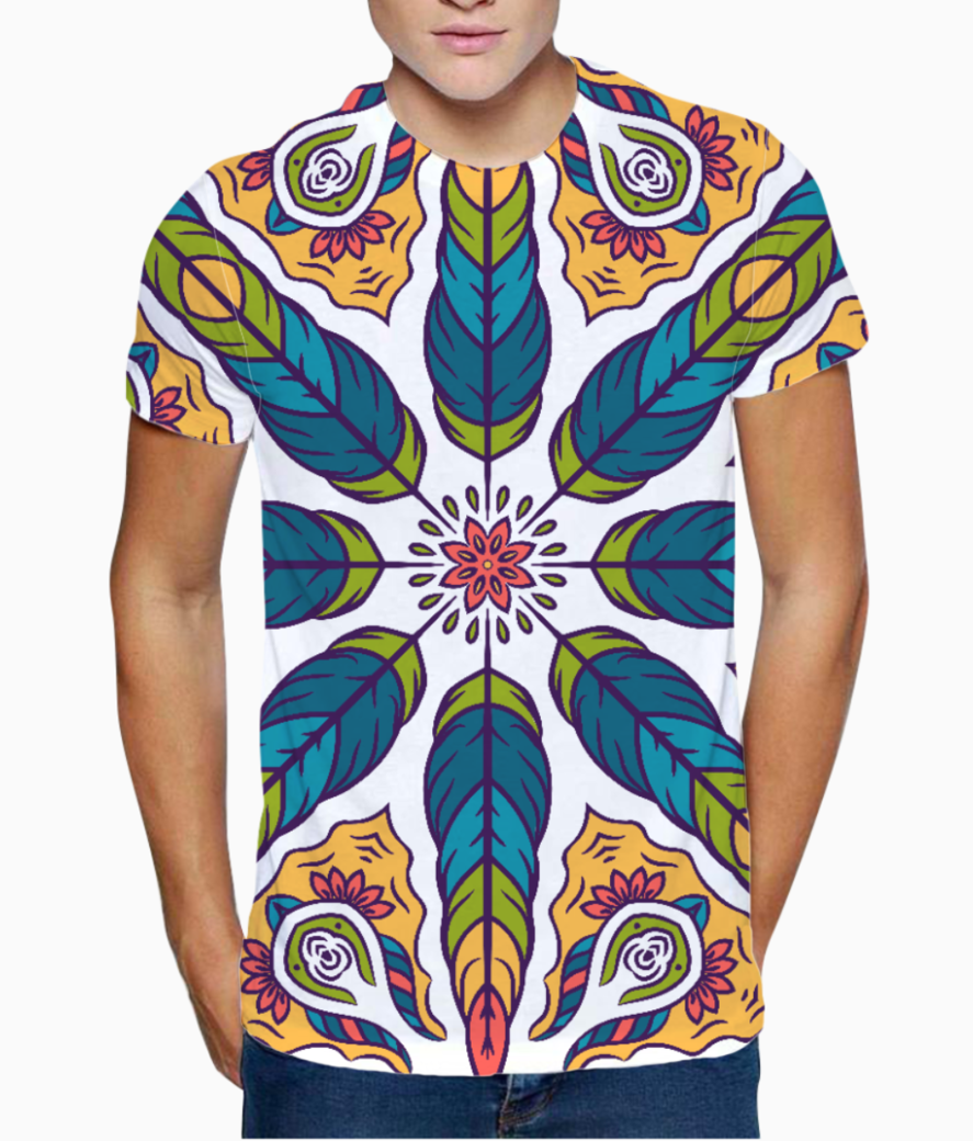 Feather pattern 1 t shirt front