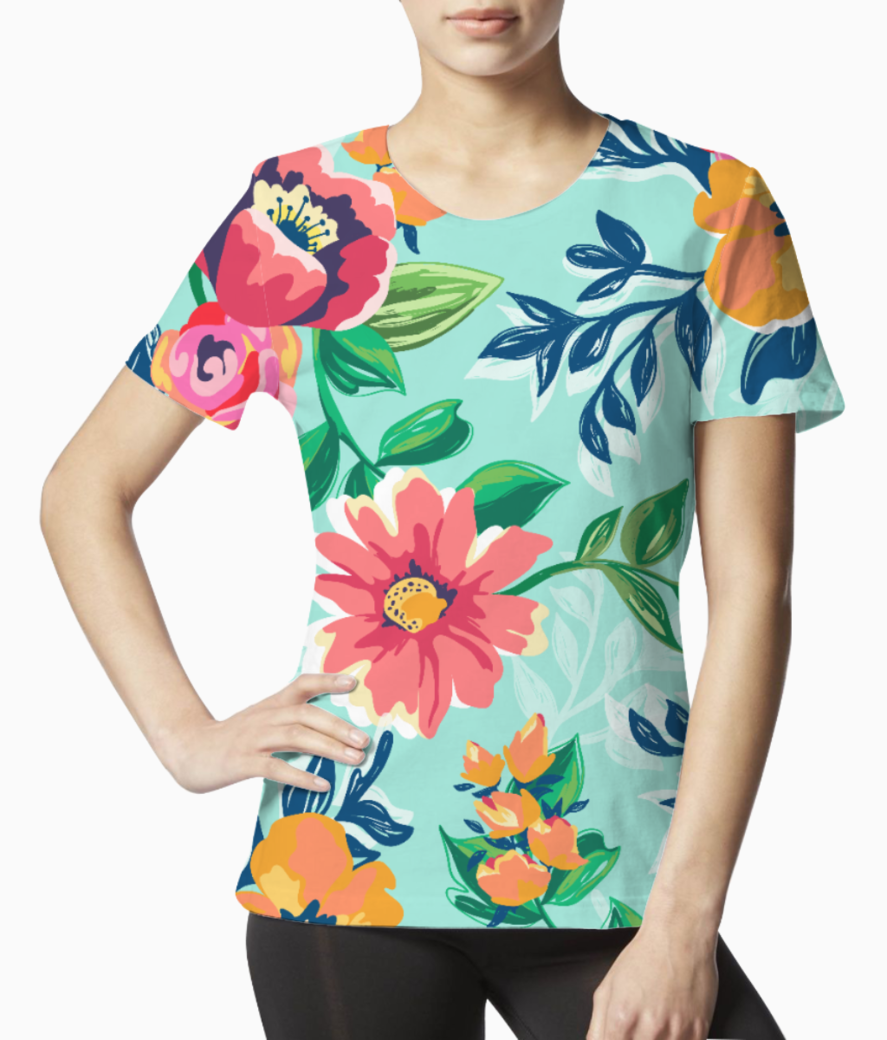 Floaral print tee front