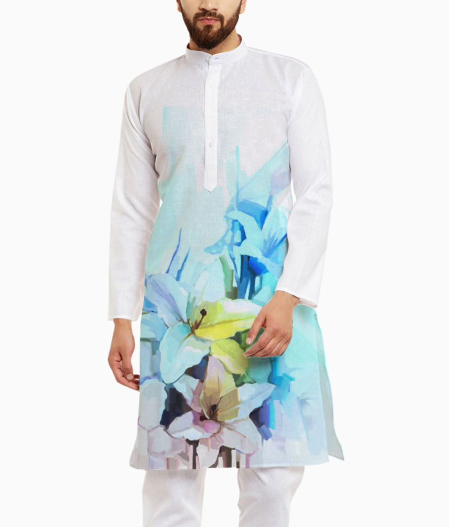 43543706 still life of white color flowers with soft pink and blue background oil painting soft colorful bouq kurta front