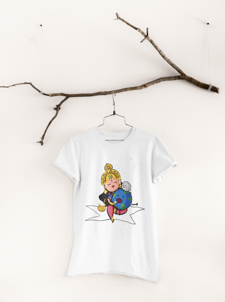 Mockup of a tee hanging from an ornamental branch 33730 %285%29