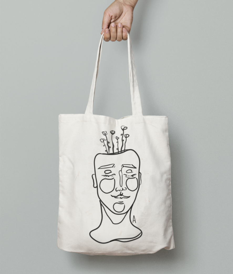Disghn 6 tote bag front