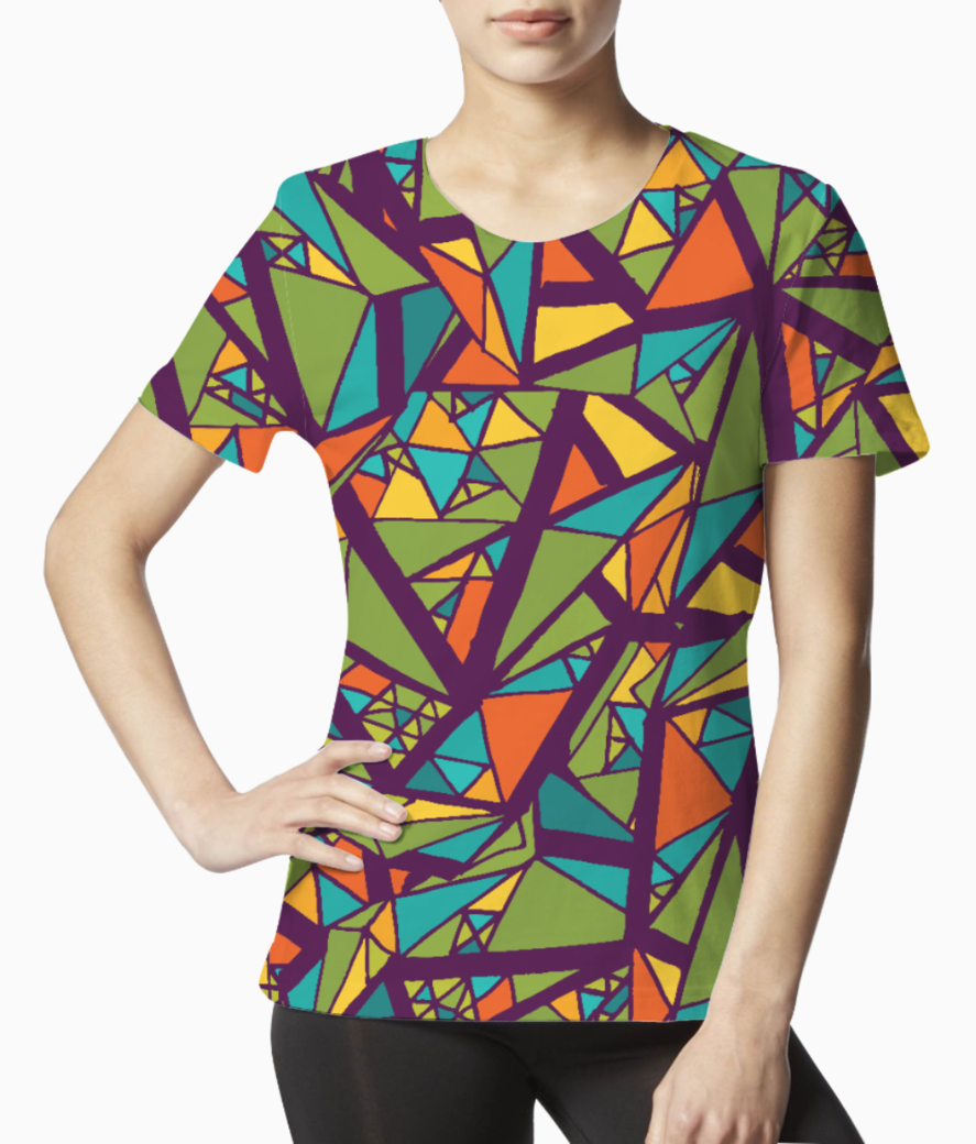 Aabstract art tee front