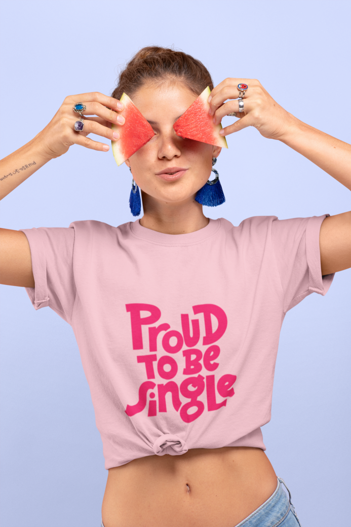 Knotted t shirt mockup featuring a woman covering her eyes with two watermelon slices 27097