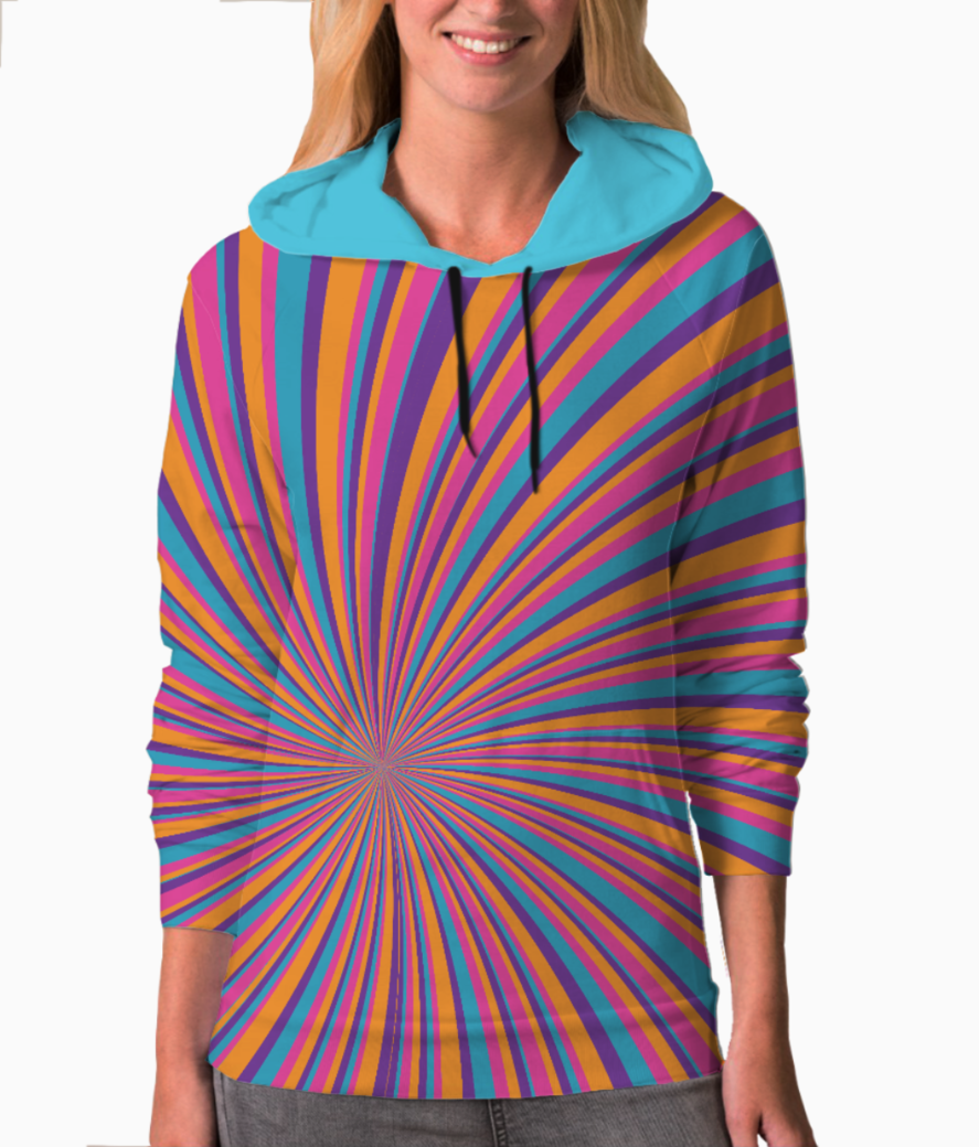 Psychedelic groovy pattern 2 hoodie front