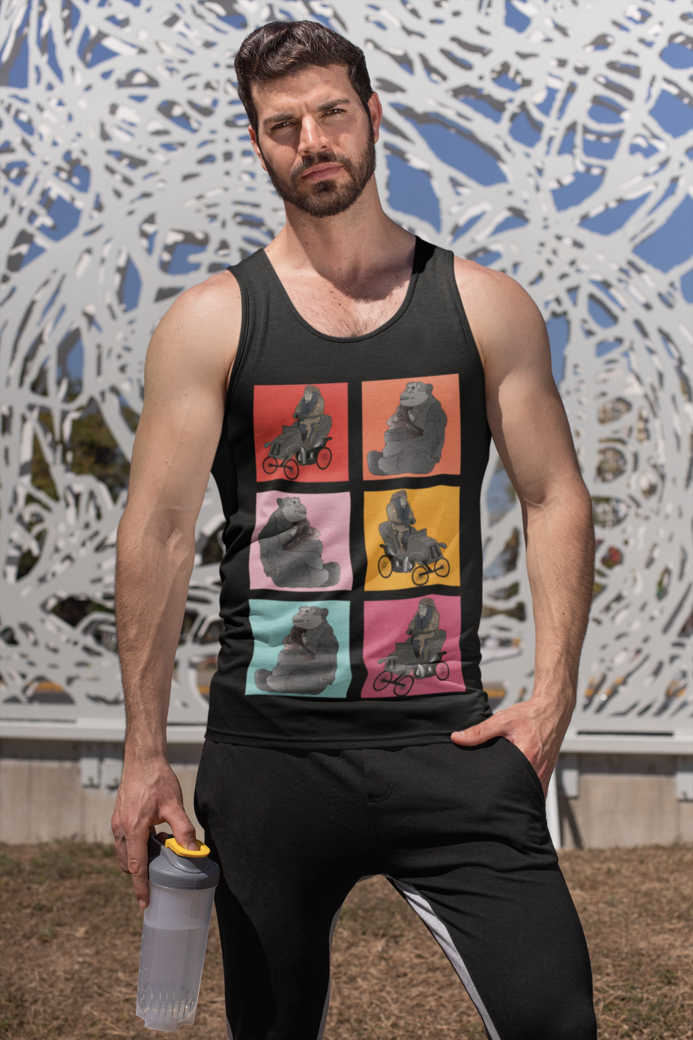 Tank top mockup featuring a fitness man 32552
